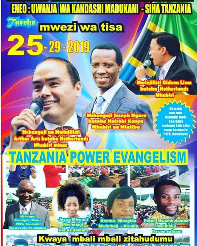 Greatly looking forward to come to the great nation of Tanzania again this week together with @gideonliem. We are expecting a great move of the Holy Spirit manifesting in salvation, healing and deliverance.Thank you @joseph_ngure_  and team for all the hard work. Tanzania shall be saved!