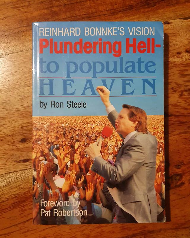 Found this nice book from 1987! We will keep on plundering hell - to populate heaven! #thenetherlandsshallbesaved #preachjesus #gospel #bonnke #cfan